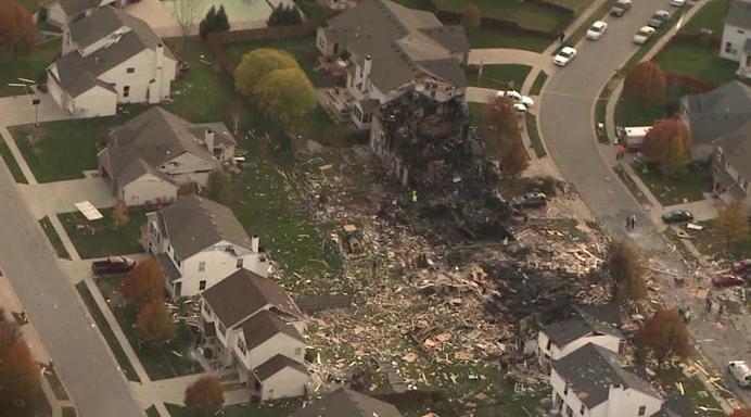 house explosion overhead carousel