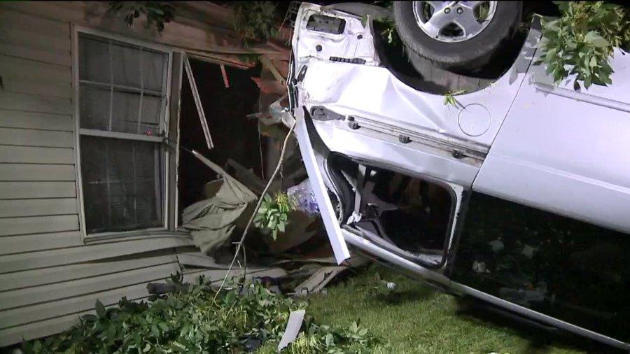 car into house 03