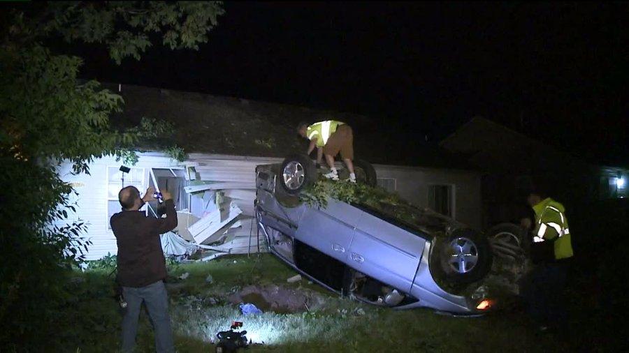 car into house 07