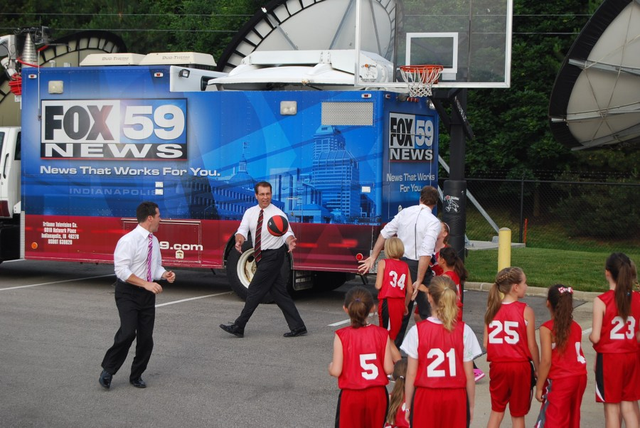 playing bball with fox59 1