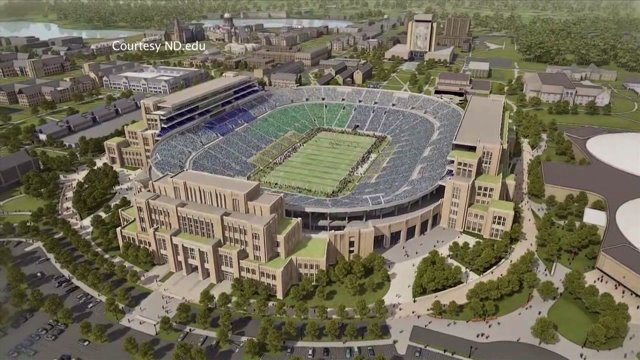 Notre Dame Football stadium expansion