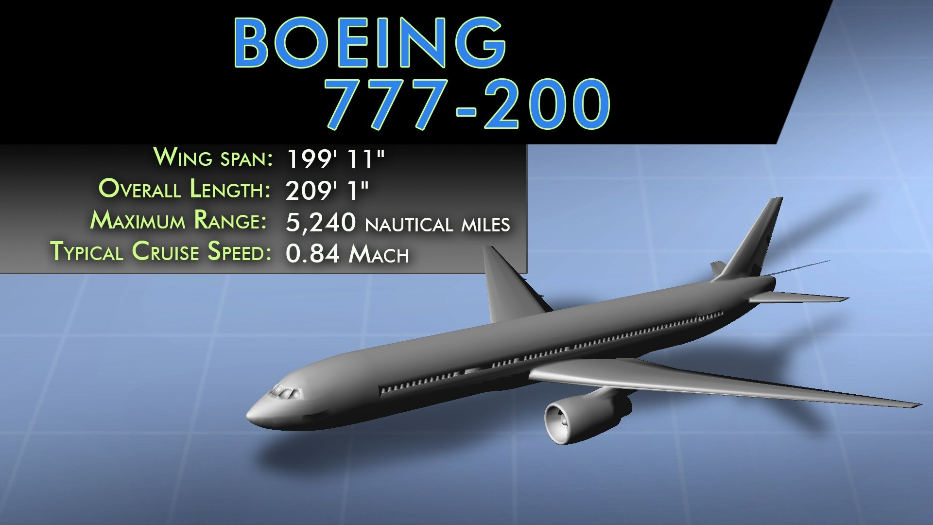 Boeing 777-200 Stats