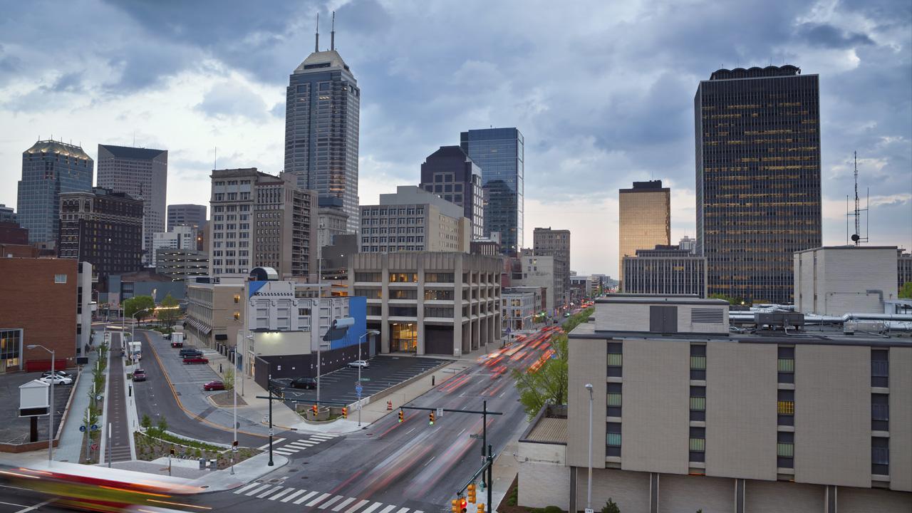 Indy Downtown Skyline 2