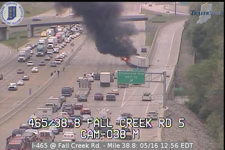 truck fire 465