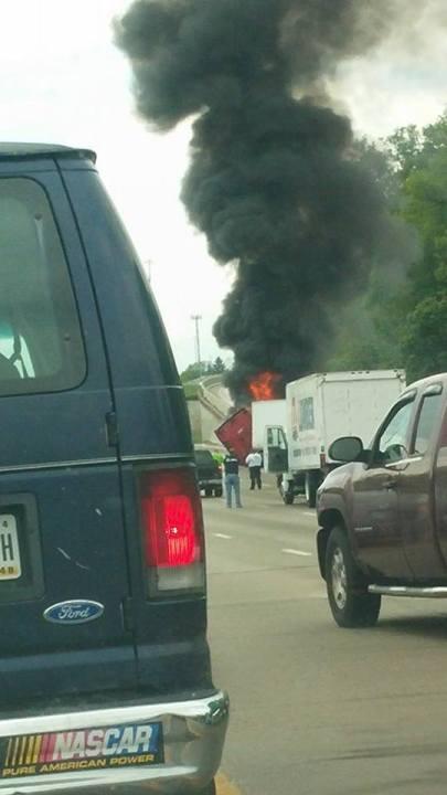 Truck fire Shandra Chappell 2