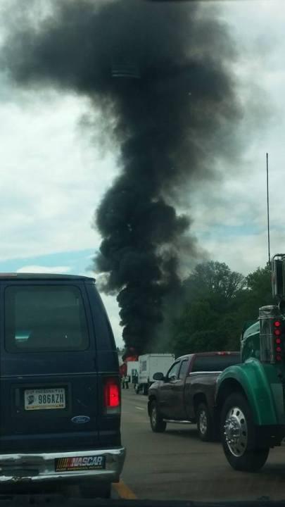 Truck fire Shandra Chappell