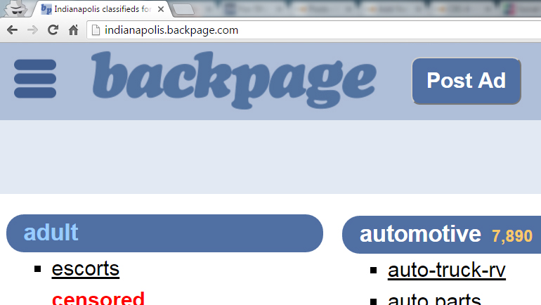Backpage Indy