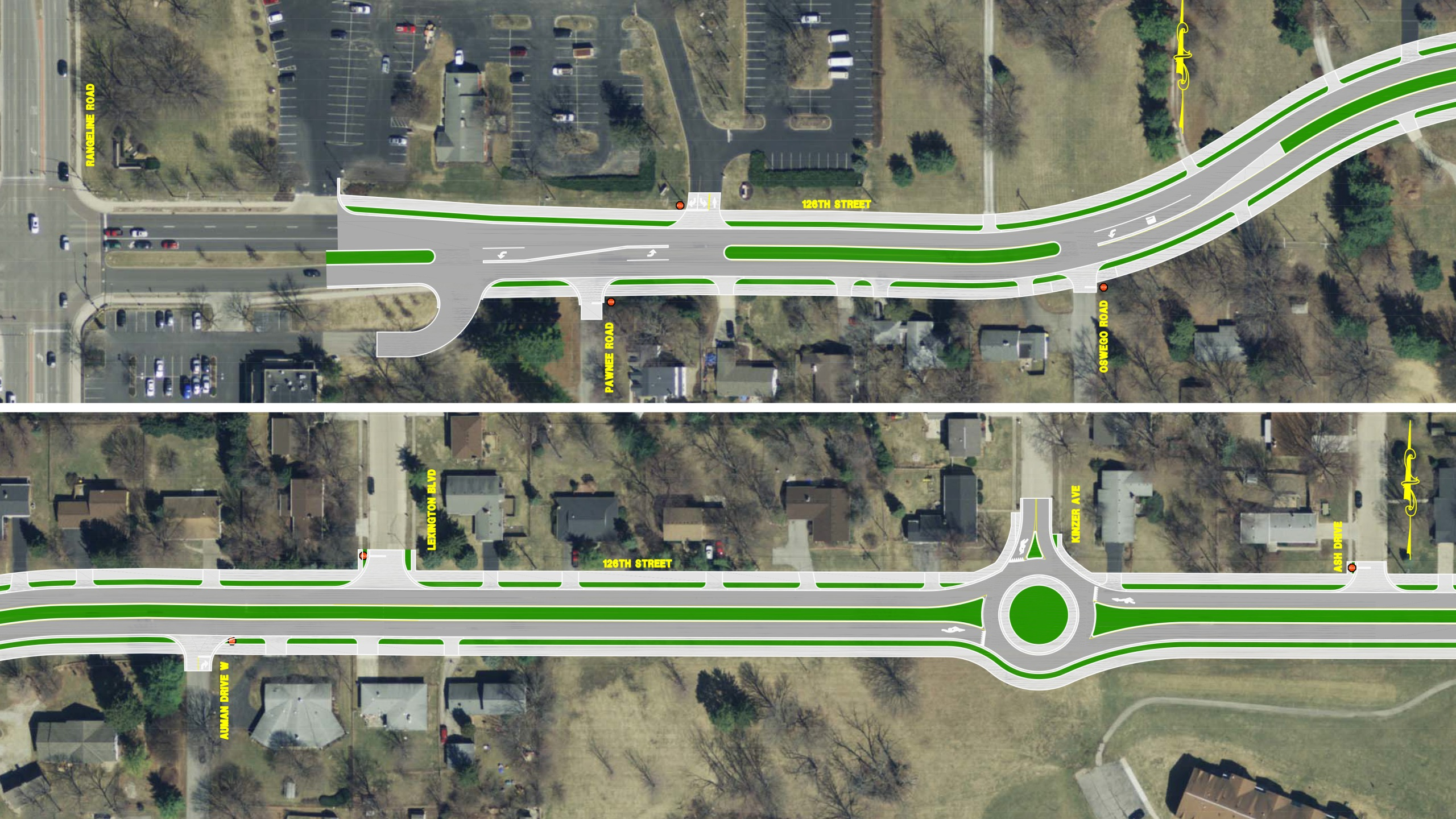 Lexington Tv Kast.New Traffic Pattern Change Now In Effect On 126th Street In Carmel