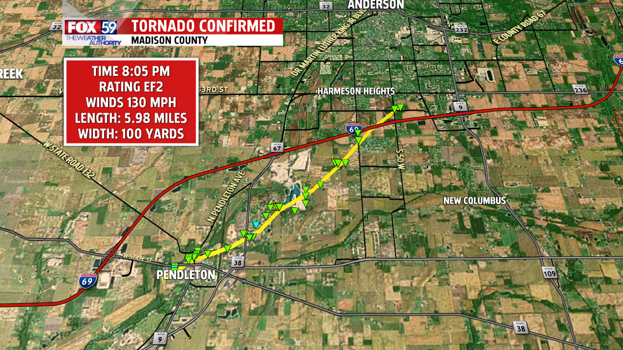 6 Confirmed Tornadoes Rip Through Indiana On Memorial Day Fox 59