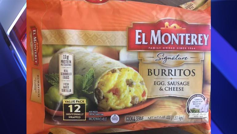Company Recalls 55 000 Pounds Of Frozen El Monterey Breakfast Burritos That May Contain Plastic Fox 59