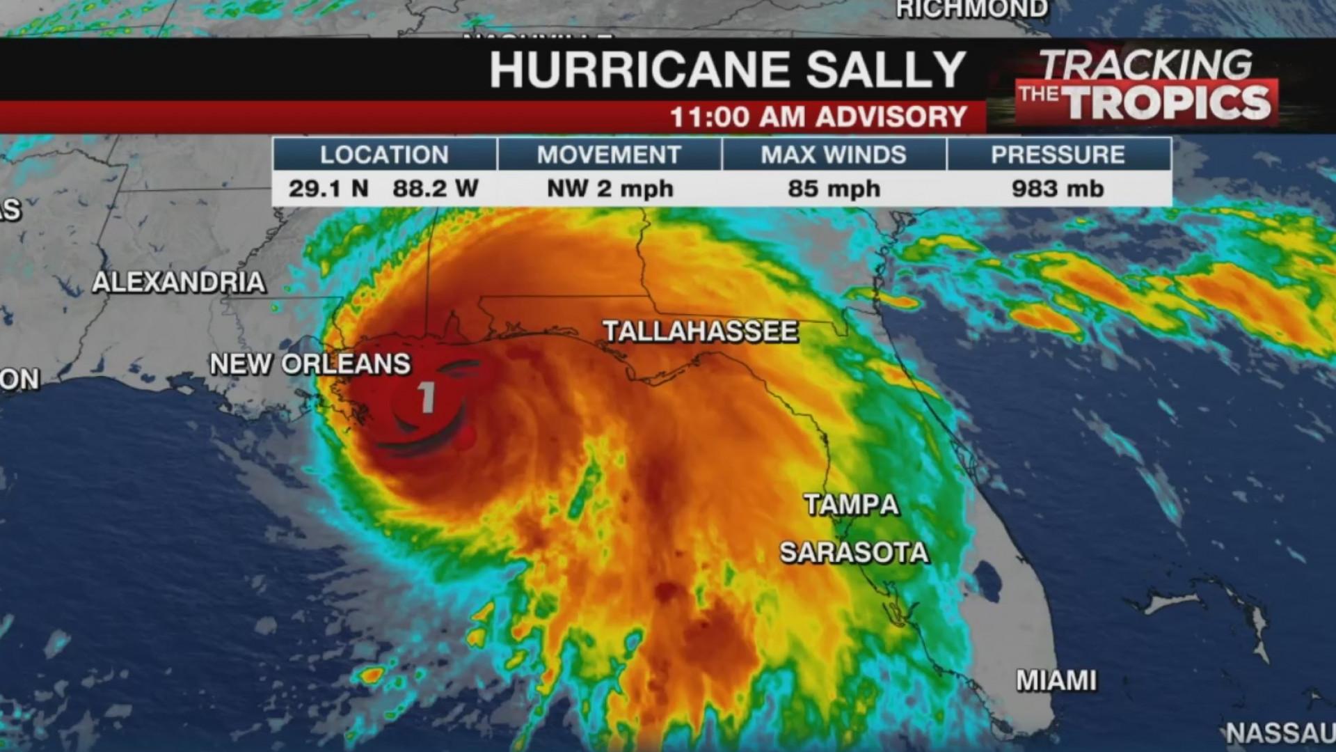 Hurricane Sally Impacts Alabama Florida Coasts Fox 59