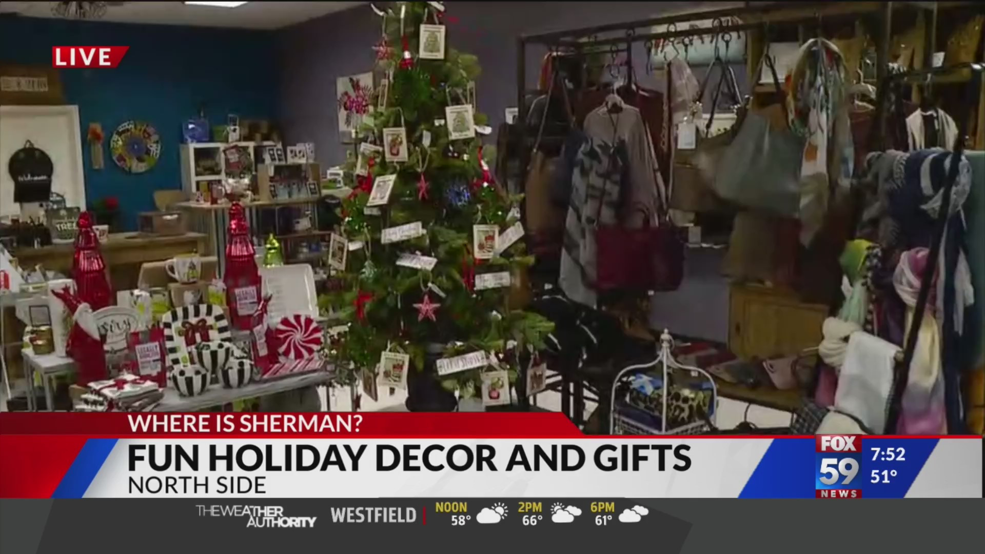 Shop for fun holiday decorations and gifts at North Side shop | Fox 59