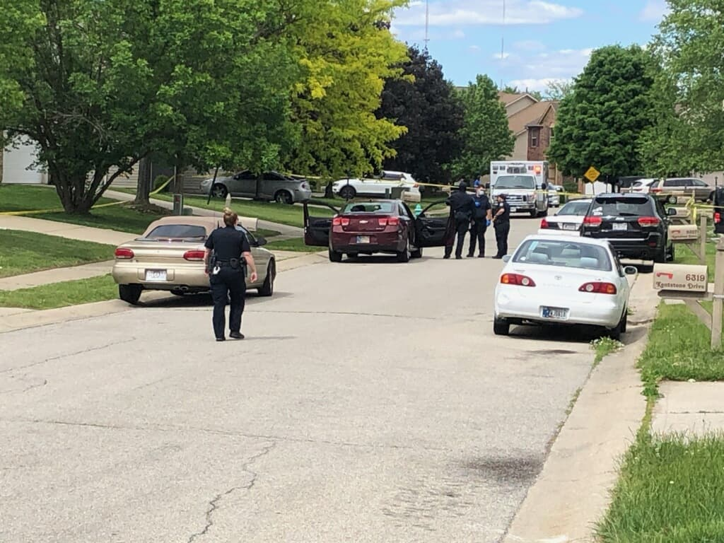 Police investigate a shooting on Indy's near northwest side