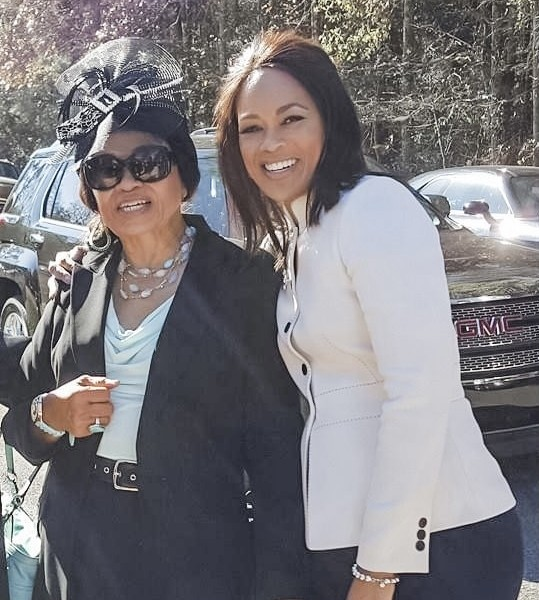 FOX59's Fanchon Stinger and her mom, Zelma