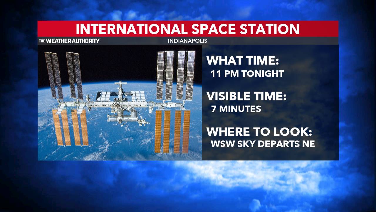 - ISS Sighting - International Space Station overhead tonight.