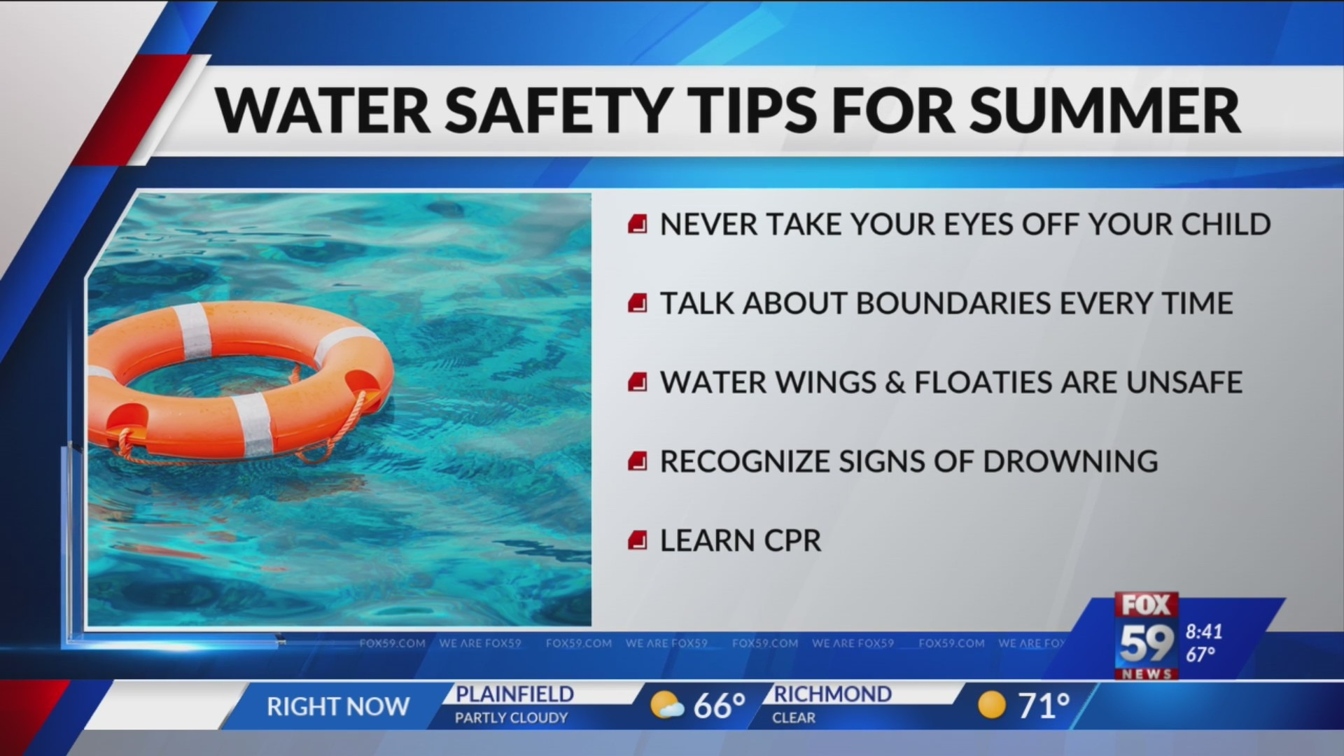 Swimming safety tips for parents watching kids in pool, water