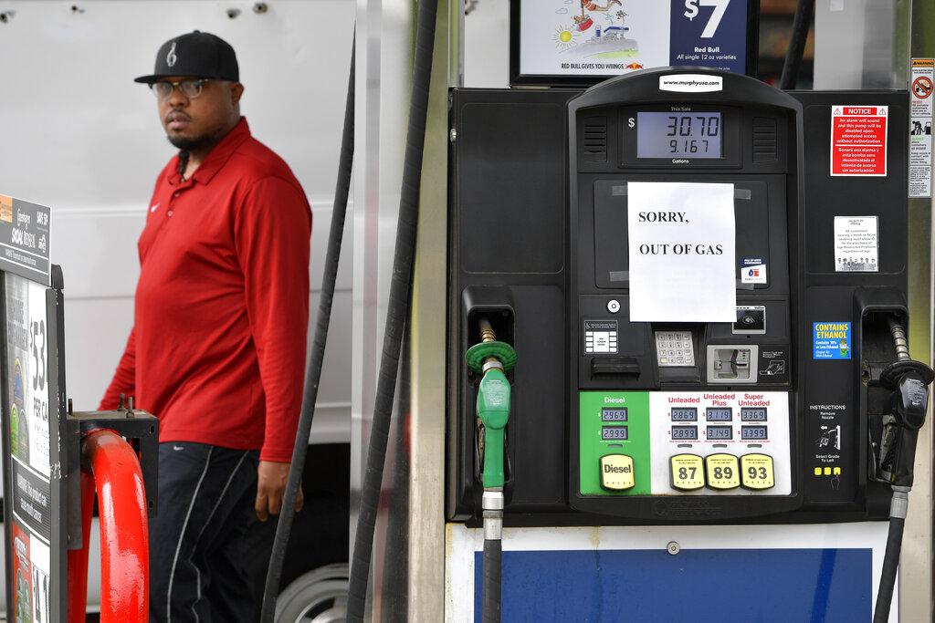 gas stations on empty in the Southeast