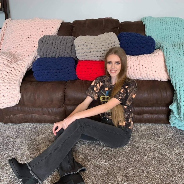 Ball State student's blanket business helps pay off school fees