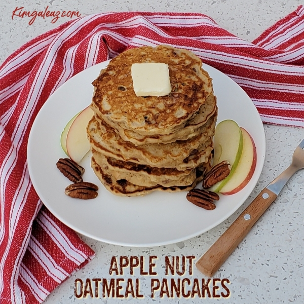 Apple Nut Oatmeal Pancakes