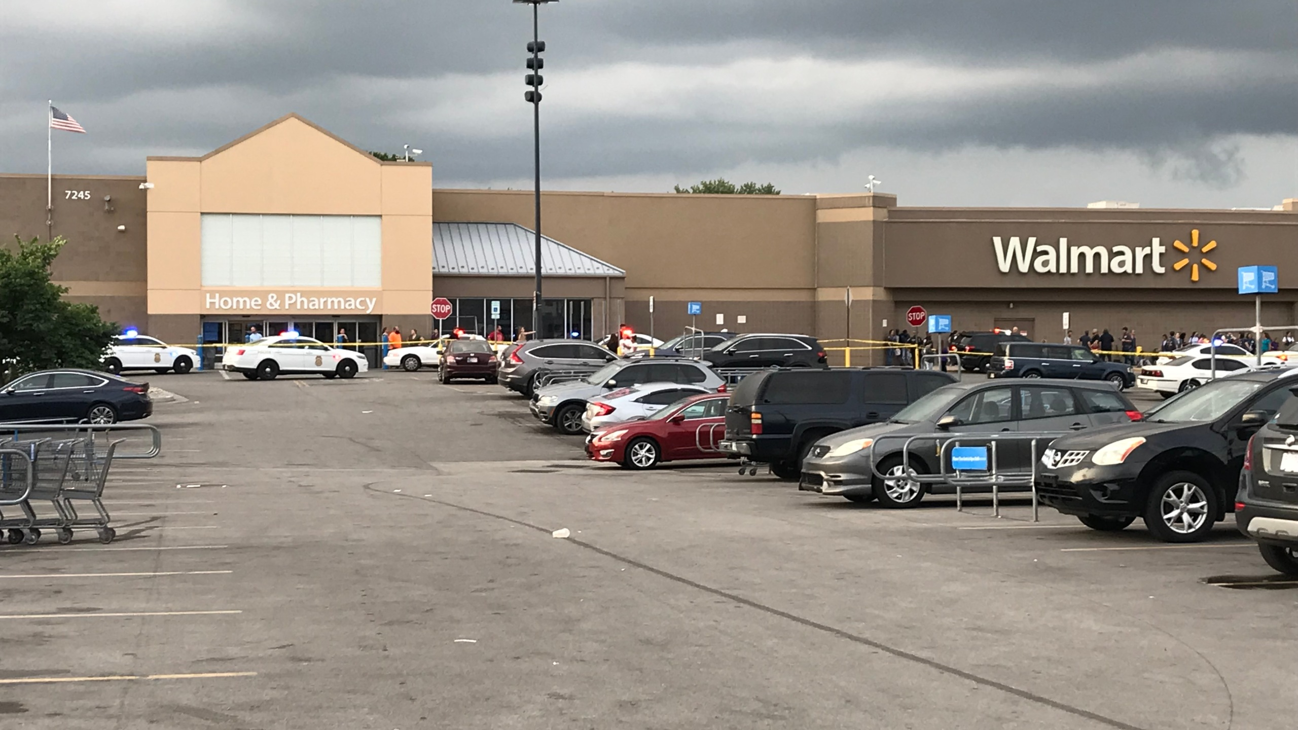 Shots fired inside Walmart