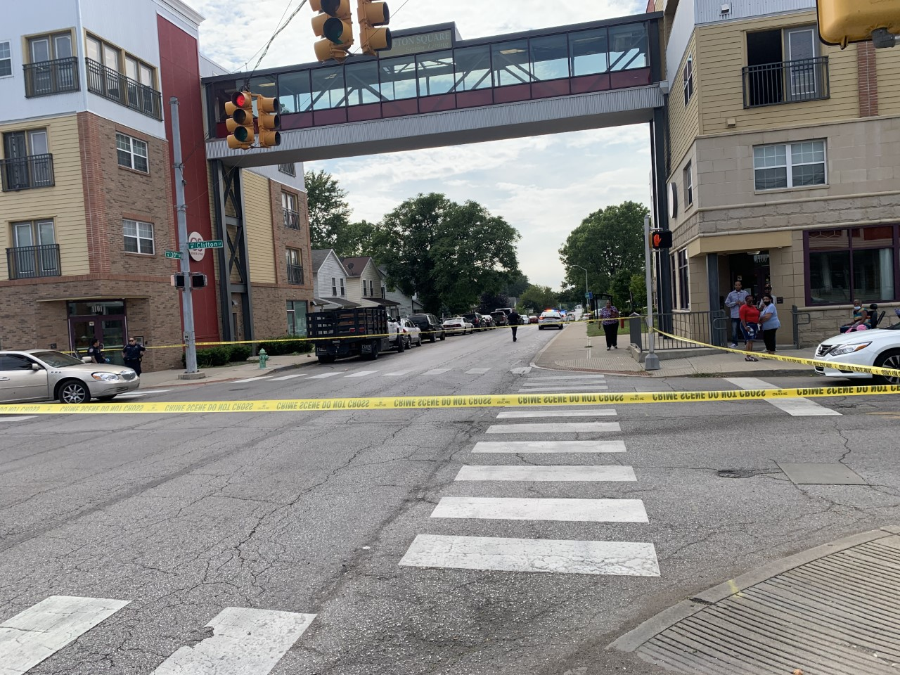 Police investigate a shooting near the intersection of 30th and Clifton