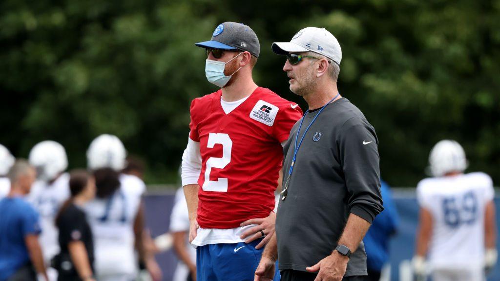 Colts QB Carson Wentz and Coach Frank Reich