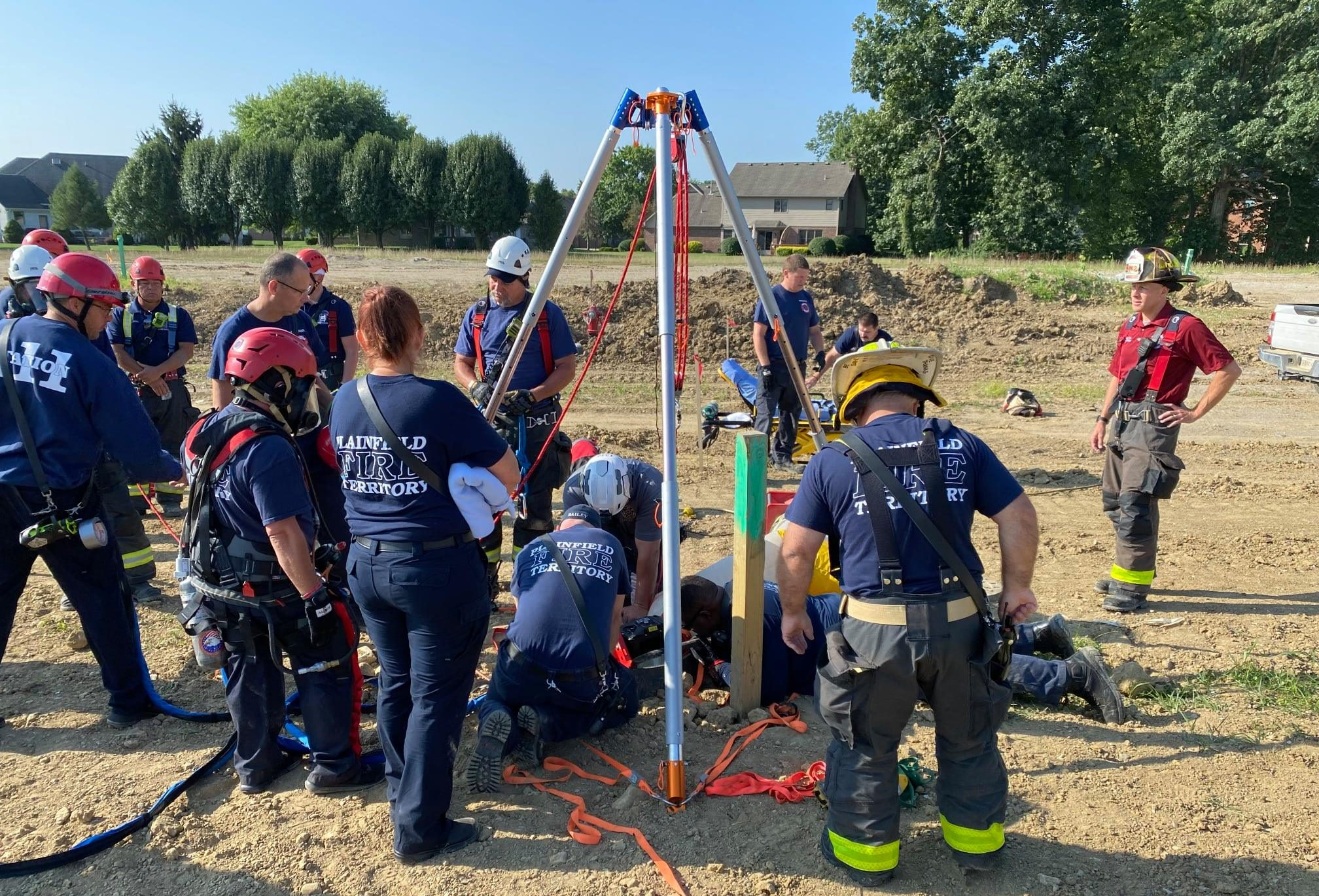 Worker rescued from 20 feet under ground after suffering suspected seizure while inspecting sewer system in Plainfield