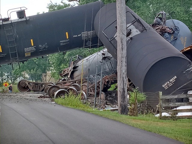 Train derailment today in Shelby County, Indiana