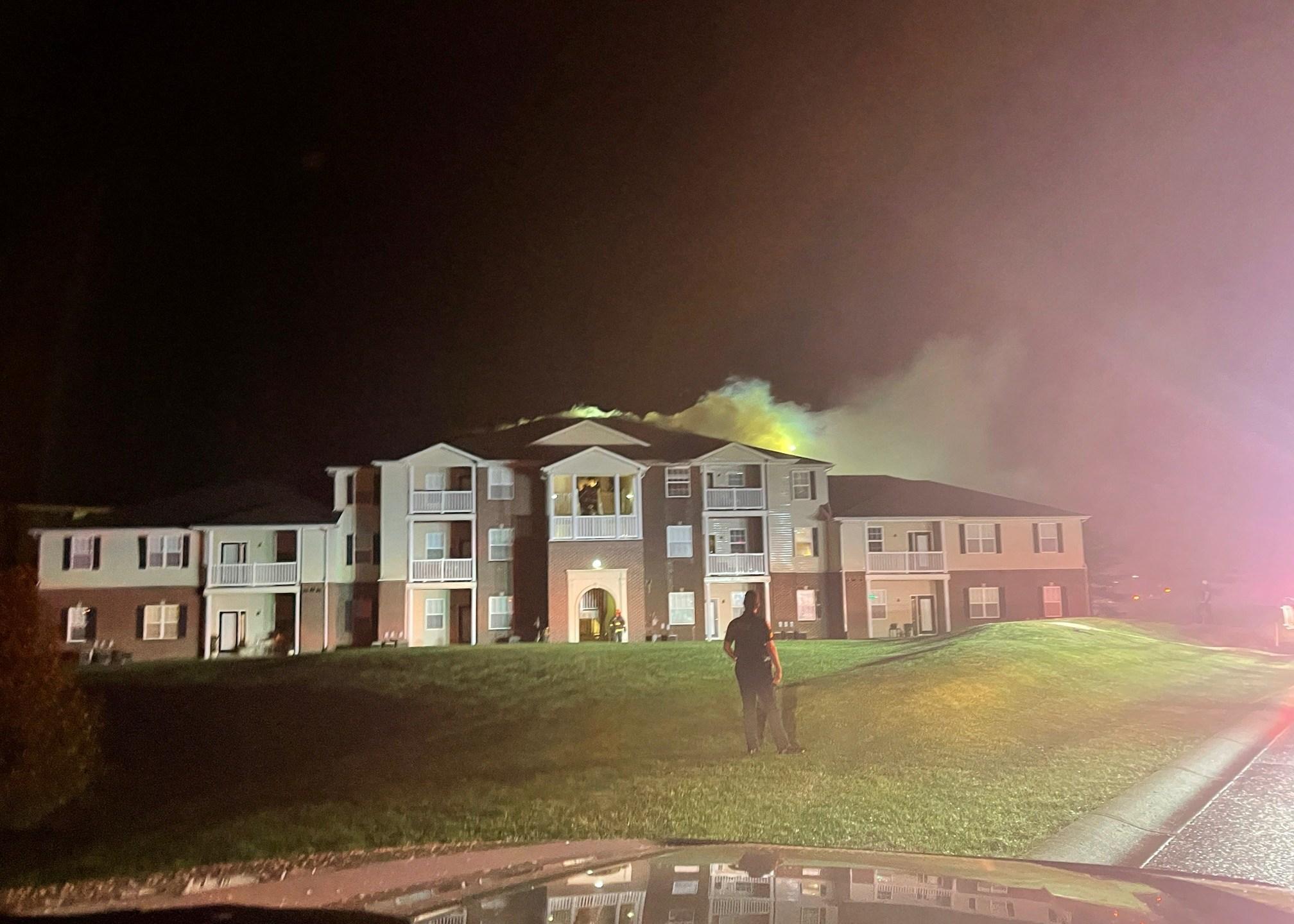 Zionsville lightning fire