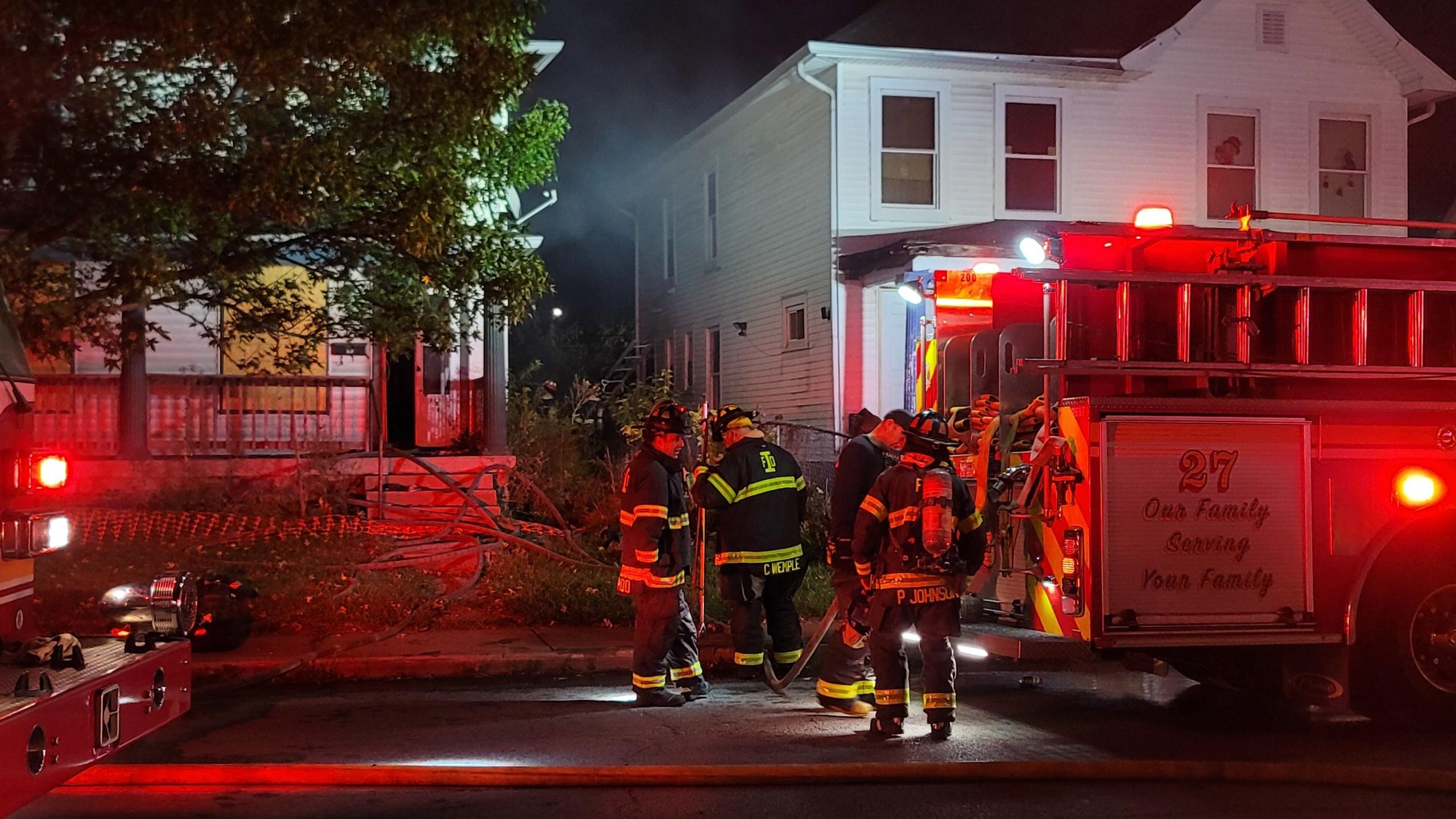 Fire on N. Keystone