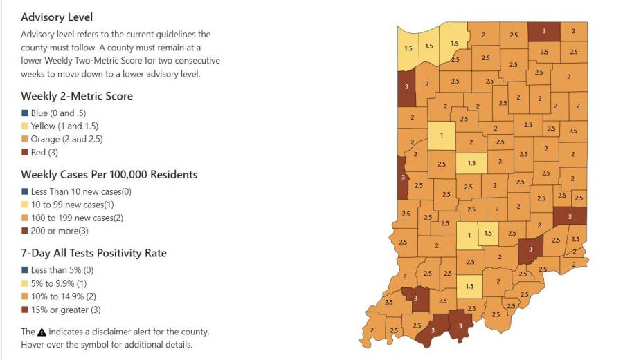 Indiana COVID data