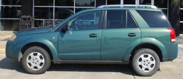 Stock photo of a green Saturn Vue